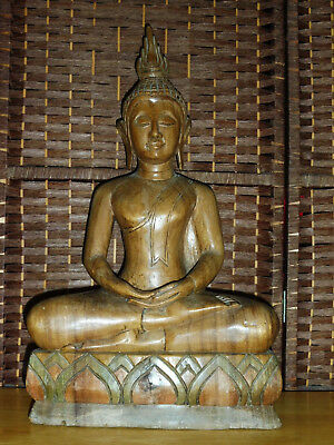 Wood Thai Buddha