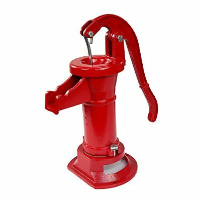 Pitcher Hand Water Pump Cast Iron Press Suction Outdoor Yard Po...