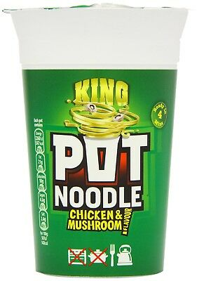 Pot Noodle King Chicken and Mushroom Flavour 117 g (Pack of 12)