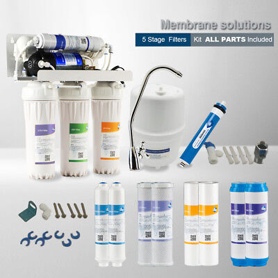 5 Stage Undersink Reverse Osmosis Drinking Water Filtration System Extra Set New