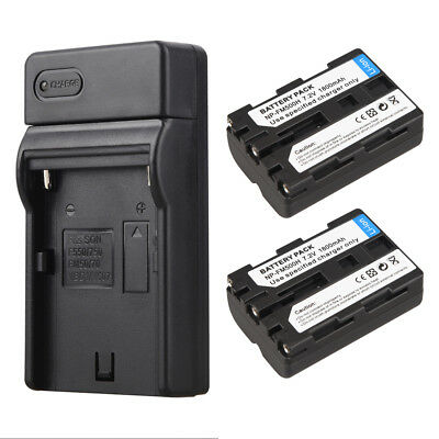 2X1800mAh NP-FM500H Batteries + Charger For Sony NP-FM500H A58 A65 A77 A550 A560