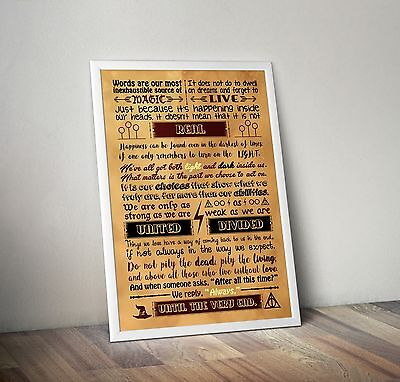 Harry Potter Quotes To Live By Poster A3 - Always - Quote - Typography