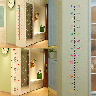 Removable Height Chart Measure Wall Animal Sticker Decal For Kids Baby DIY Room