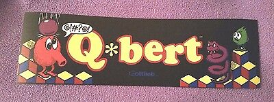 Q Bert arcade marquee sticker. 3 x 9.75. (Buy any 3 stickers, GET ONE FREE!)