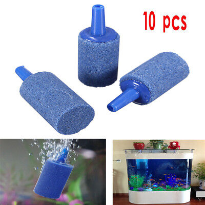 10Pcs Cylinder Bubble Aeration Aerator Air Stone For Aquarium Fish Tank Home Use