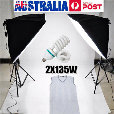 Photography Photo SoftBox Studio Continuous Video Lighting Softbox Stand Kit Set