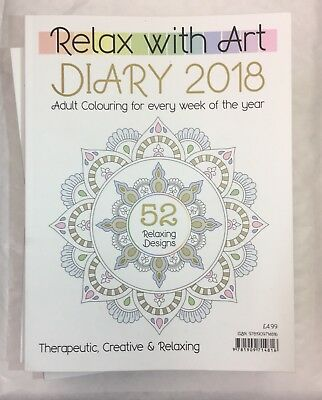 Advanced Art Therapy Relax With Art Diary 2018 Therapeutic Creative 52 Designs