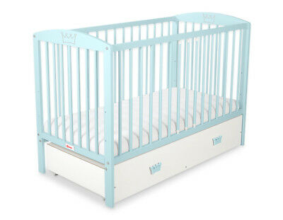 NEW COT - BED 120x60 WITH DRAWER  INCLUDING FOAM MATTRESS 20 COLOUR