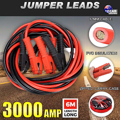 3000AMP 6M Jumper Leads Long Surge Protected Heavy Duty Jump Booster Cables AU