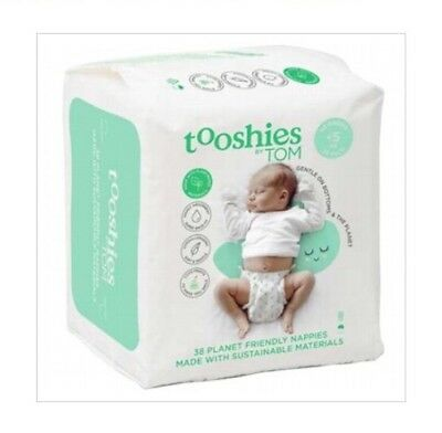 ✅NEW TOOSHIES BY TOM Baby Nappies Newborn - 5kg (pack of 38)