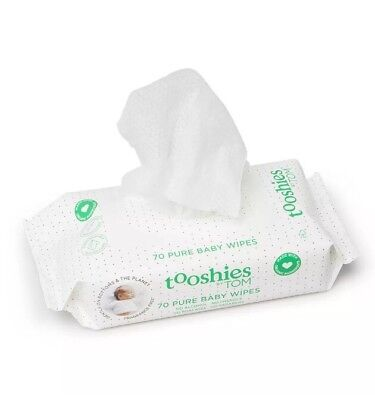 ✅NEW Tooshies by TOM eco Baby Wipes BULK (70pack x 8) Premium Texture