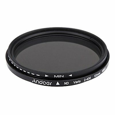Andoer 52mm ND Fader Neutral Density Adjustable ND2 to ND400 Variable Filter