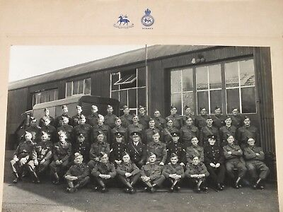 1941 HOME GUARD & SPECIAL CONSTABULARY FARNHAM SURREY Large Photo with motifs