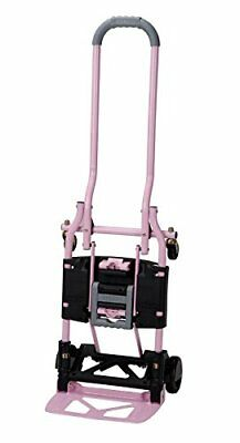 Cosco Shifter 300-Pound Capacity Multi-Position Folding Hand Truck and Cart Pink