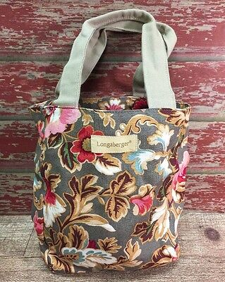 LONGABERGER MAJOLICA GARDEN FLORAL SMALL TOTE Gift, LUNCH BAG