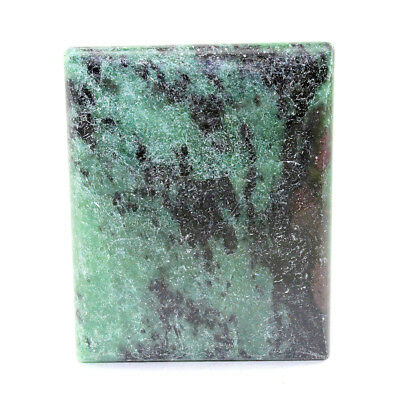 111CTS 100% Natural Ruby in Zoisite Rectangle Cabochon Loose Gemstone AD-1668
