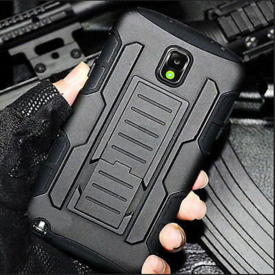 Rugged Hard Case for Samsung LG Hybrid Armor Holster Cover For iPhone Moto ZTE