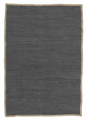 NEW Reno Cotton and Jute Rug Charcoal