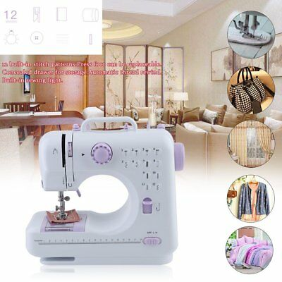 Multifunction Electric Overlock Sewing Machine Household Sewing 12 Stitches MY