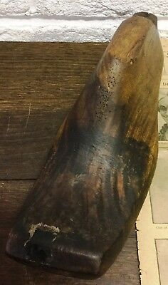 1 Naturally Aged Vtg Large Old Wooden Foot/Cobblers/Boot Makers Shoe Last - Prop