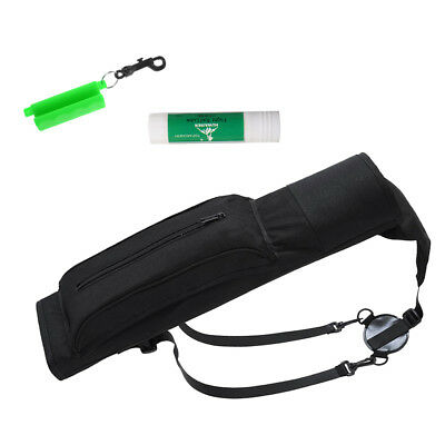 Archery Back Quiver with Adjustable Straps + Arrow Puller + Bow String Wax