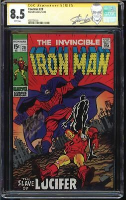 Iron Man #20 Cgc 8.5 White Ss Stan Lee Signed Lucifer Appearance Cgc #1227701009