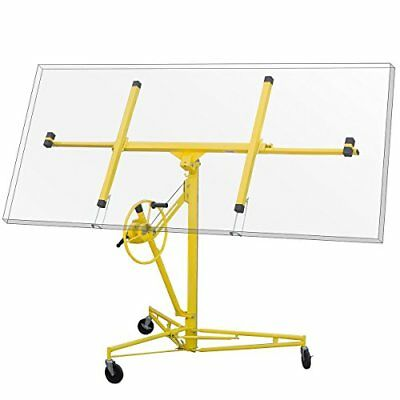 11' Drywall Rolling Lifter Panel Hoist Jack Caster Construction Tool Yellow