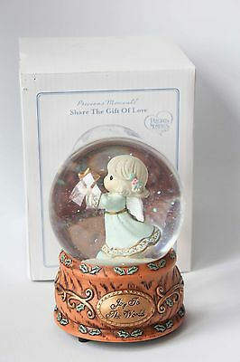 Precious Moments Joy to the World Musical Snow Water Globe w Box #131101