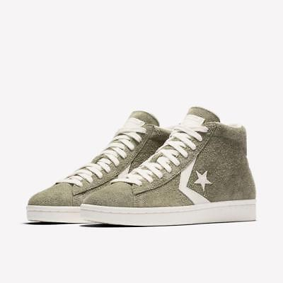 17aa1cd9c8c3 Converse Pro Leather Mid Vintage Suede 157690C Medium Olive Green egret  White