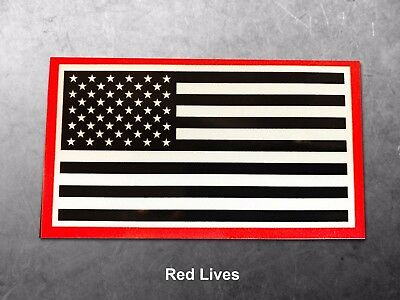 Red Lives Matter Border Reflective American Flag Vinyl Decals for your vehicle
