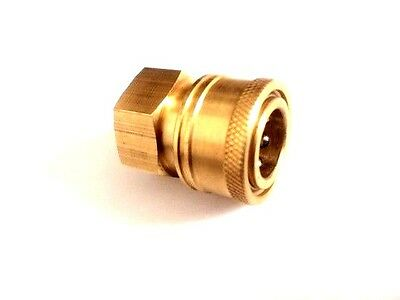 "Pressure Washer 3/8"" Female (NPT) Brass Quick Connect Coupler"