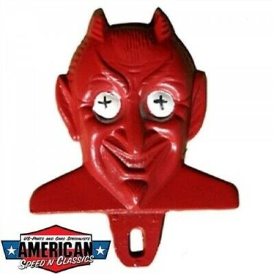 MOONEYES Red Devil License Plate Topper Autokennzechen Nummernschild Topper