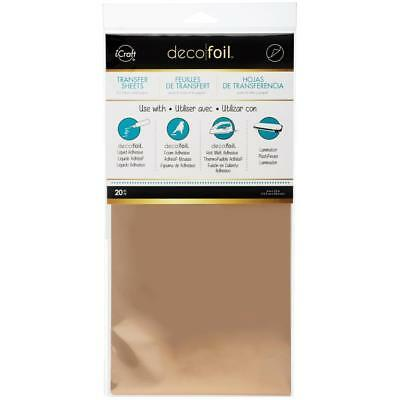 "iCraft DECO FOIL Transfer Sheets 6""X12"" 20/Pkg - ROSE GOLD"