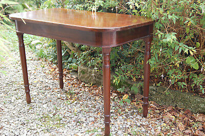 Victorian Antique Mahogany curved front side hall console occassional table