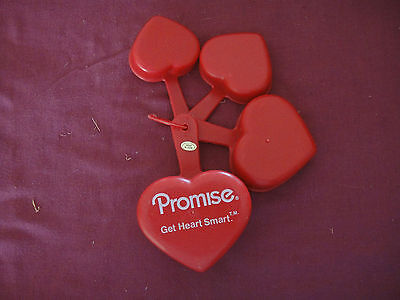 Vintage Promise Margarine Set of 4 Heart Shaped Measuring Cups Advertising Promo