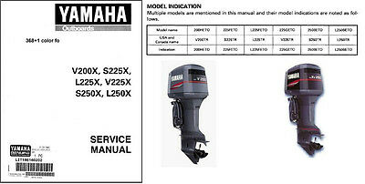Yamaha 200 225 250 HP 2-Stroke Outboard Motor Service Repair Manual CD