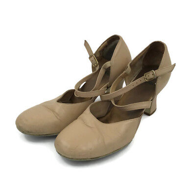 """LaDuca Tan Cherie 2.5"""" Size 38 1/2 Character Dance Shoes Theatre Jazz Italy"""