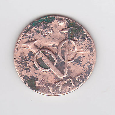 1735 Dutch Duit Voc Or New York Penny Colonial Coin - Cleaned