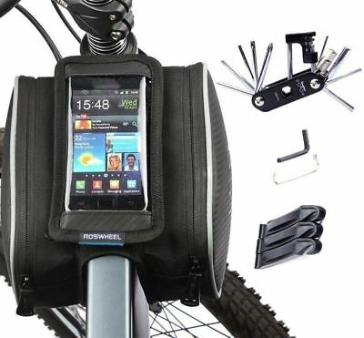 Bike Repair Bag Set, WOTOW Cycling Frame Pannier Cell Phone Bicycle Front