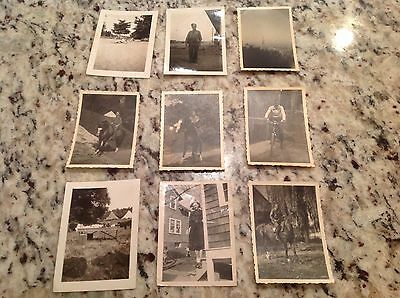 Army WWII Soldiers photo lot 9 pictures horses Germany