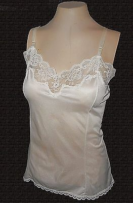 vintage, Camisole Cami, Esteem for Sheer Comfort, Nylon Triot Lace Ivory NWOT, M