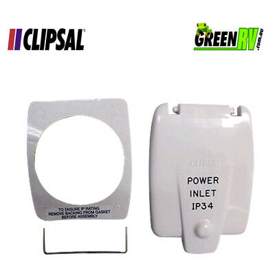 Clipsal Old Style IP34 Caravan RV 15AMP Power Inlet Flap Cover
