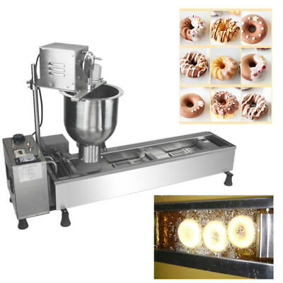 3 Sets Free Mold Commerical Automatic Donut Marker Making Machine, Wide Oil Tank