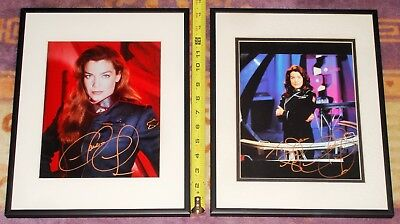 Two (2)  Babylon 5 Claudia Christian Autographed Matted & Framed Pictures!