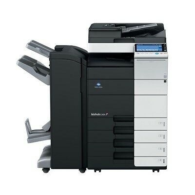Konica Minolta Bizhub C454 Color Copier Scan, Fax Network 65k+Booklet Fin
