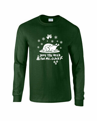 630 Save The Neck For Me Clark Crew Sweatshirt christmas holiday vacation funny