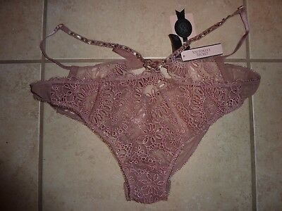 95d3e08a3aa9 Victorias Secret Designer Collection Rose Pink Lace Cheeky/cheekini Panties  Nwt