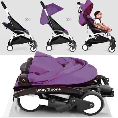Foldable Travel Baby Stroller Lightweight Pushchair Buggy Pram  Infant Kids UK