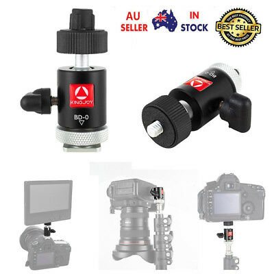 "New 360 Swivel Mini Ball Head 1/4"" Screw Tripods Mount For DSLR Camera Camcorder"