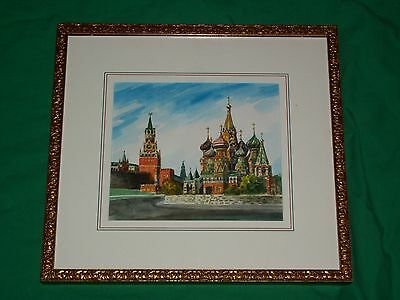 Rynek Starego Miasta Old Town Market Red Square Moscow Russia Ussr Painting Art